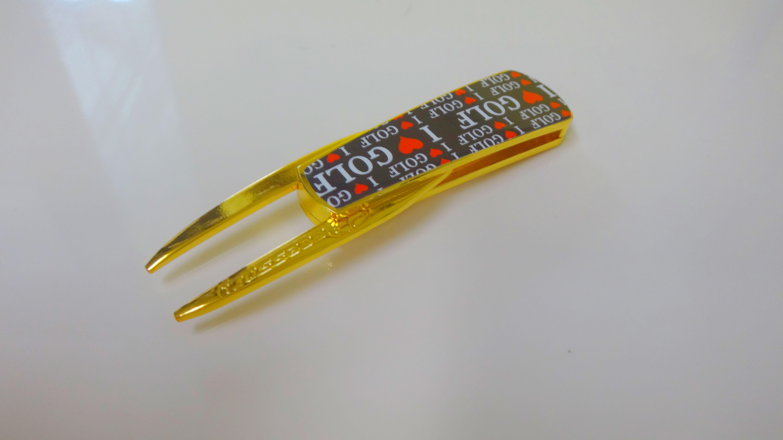 【グリーンフォーク】ゴルフ Smart Forkゴールド(ブラック)2,500円